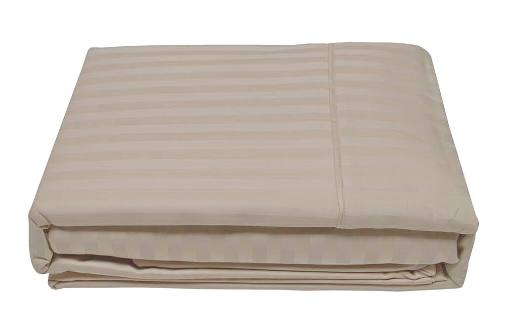 cotton sheet1000TC ivory stripe