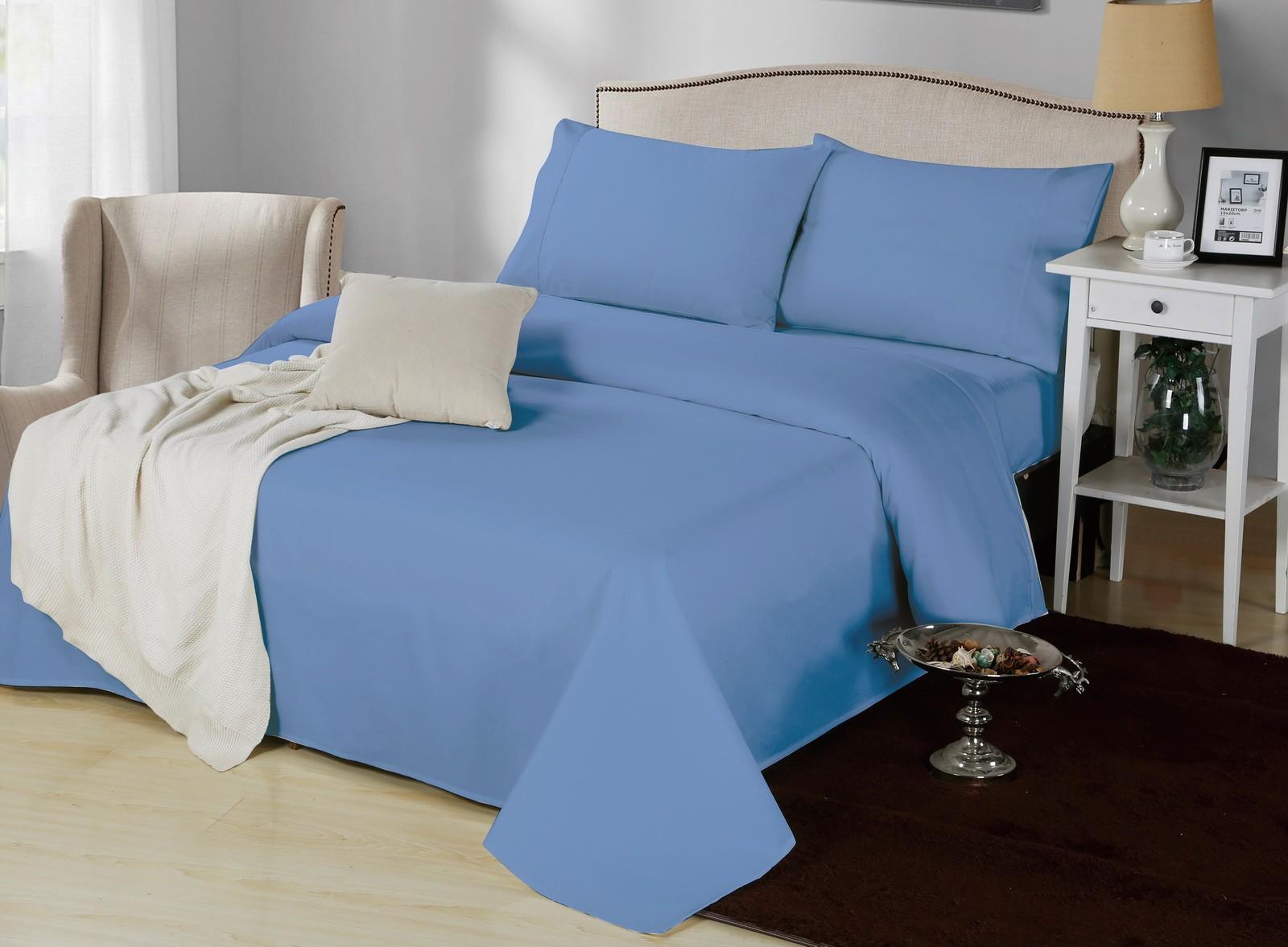 1000TC Cotton Rich Sheet Set Easy Care 5 Colors