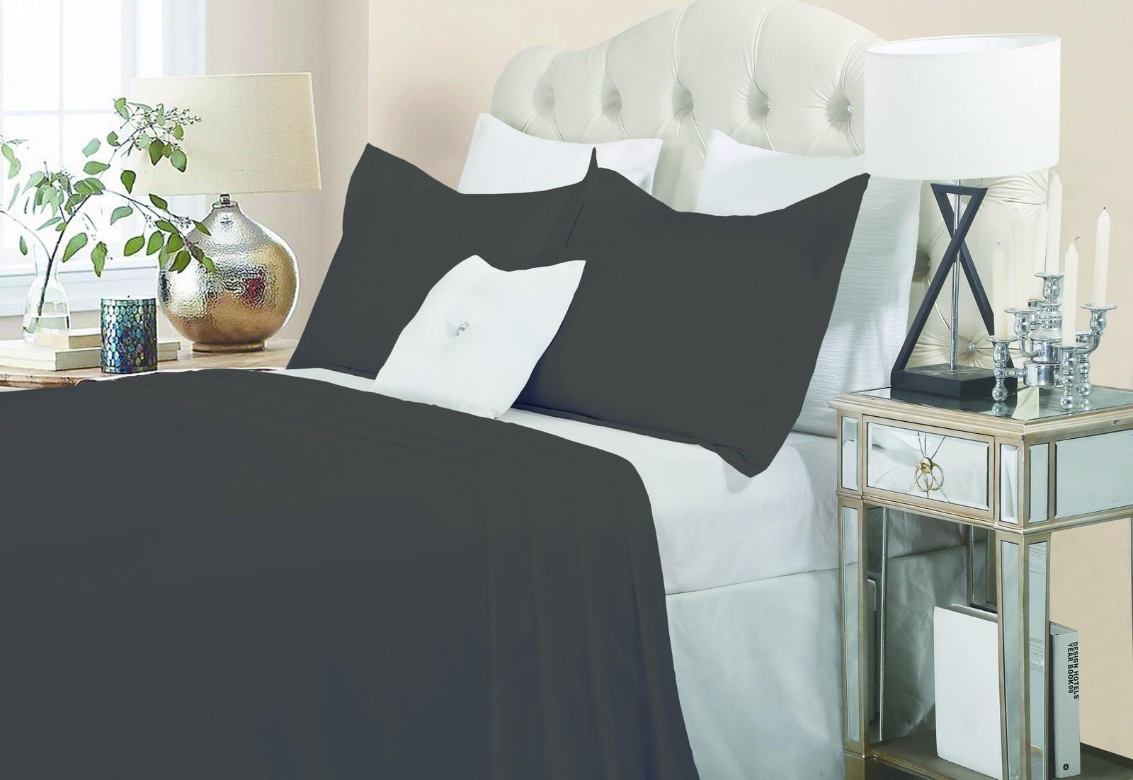 Luxury 1500TC Cotton Quilt Set Charcoal
