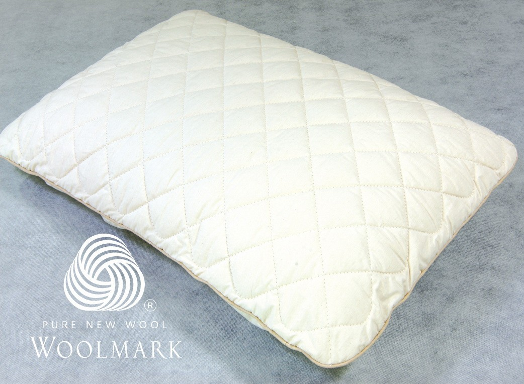 Hybrid Latex Plus Wool Standard Pillow Regular Shape 60 x 40 x 12 cm