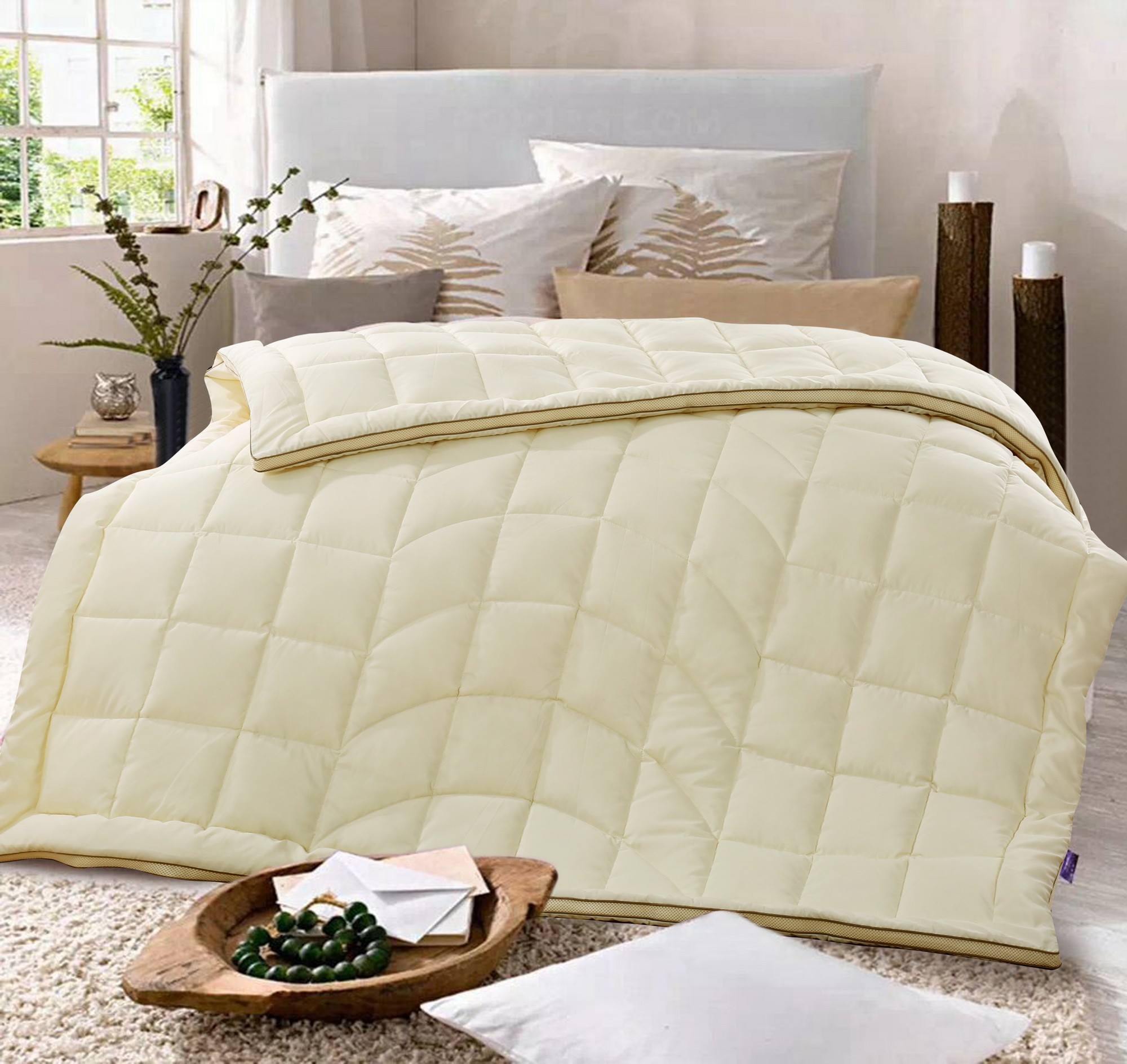 GOLDWOLKE Artificial Down Quilt King Size