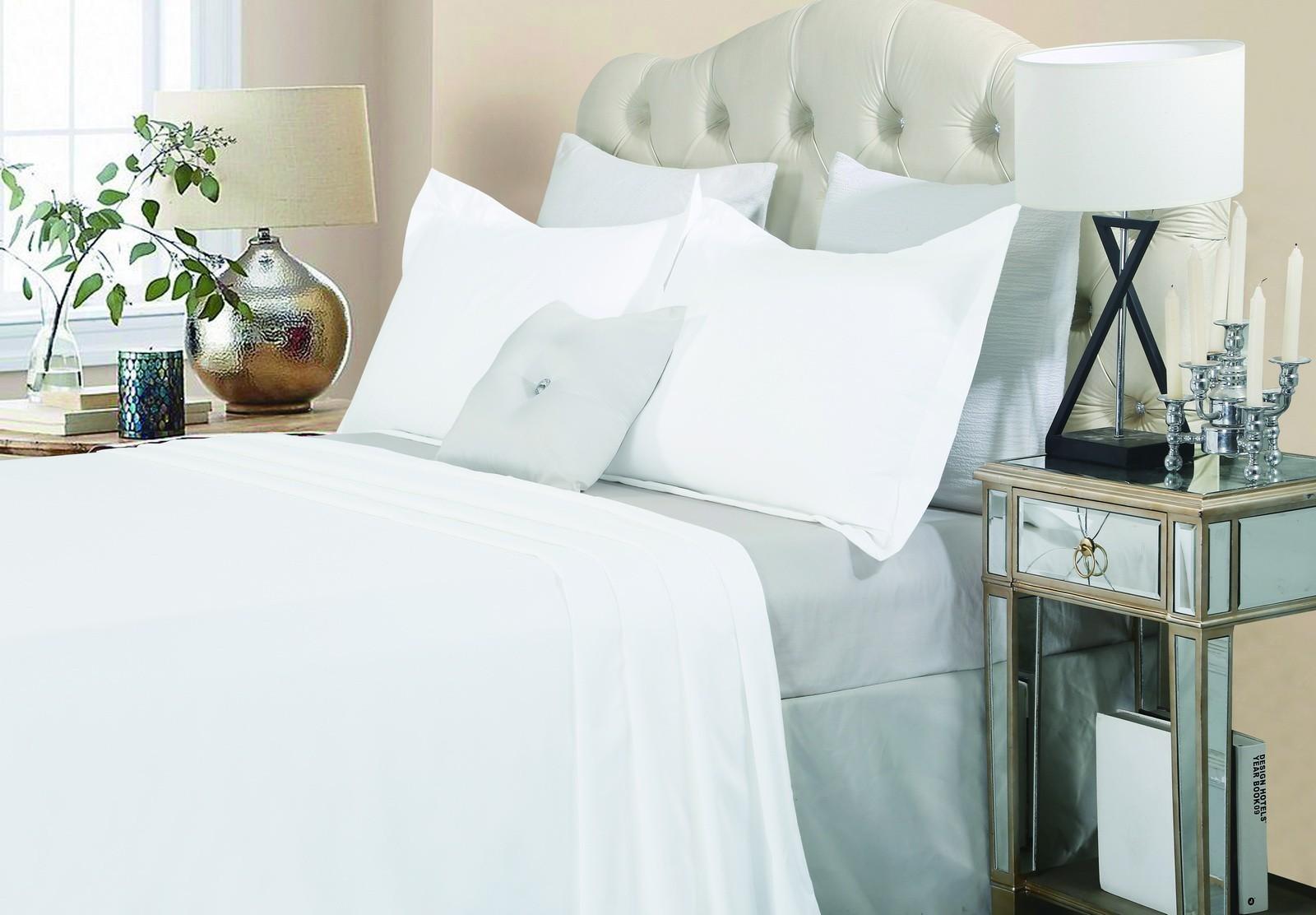 Luxury 1500TC Cotton Quilt Set White