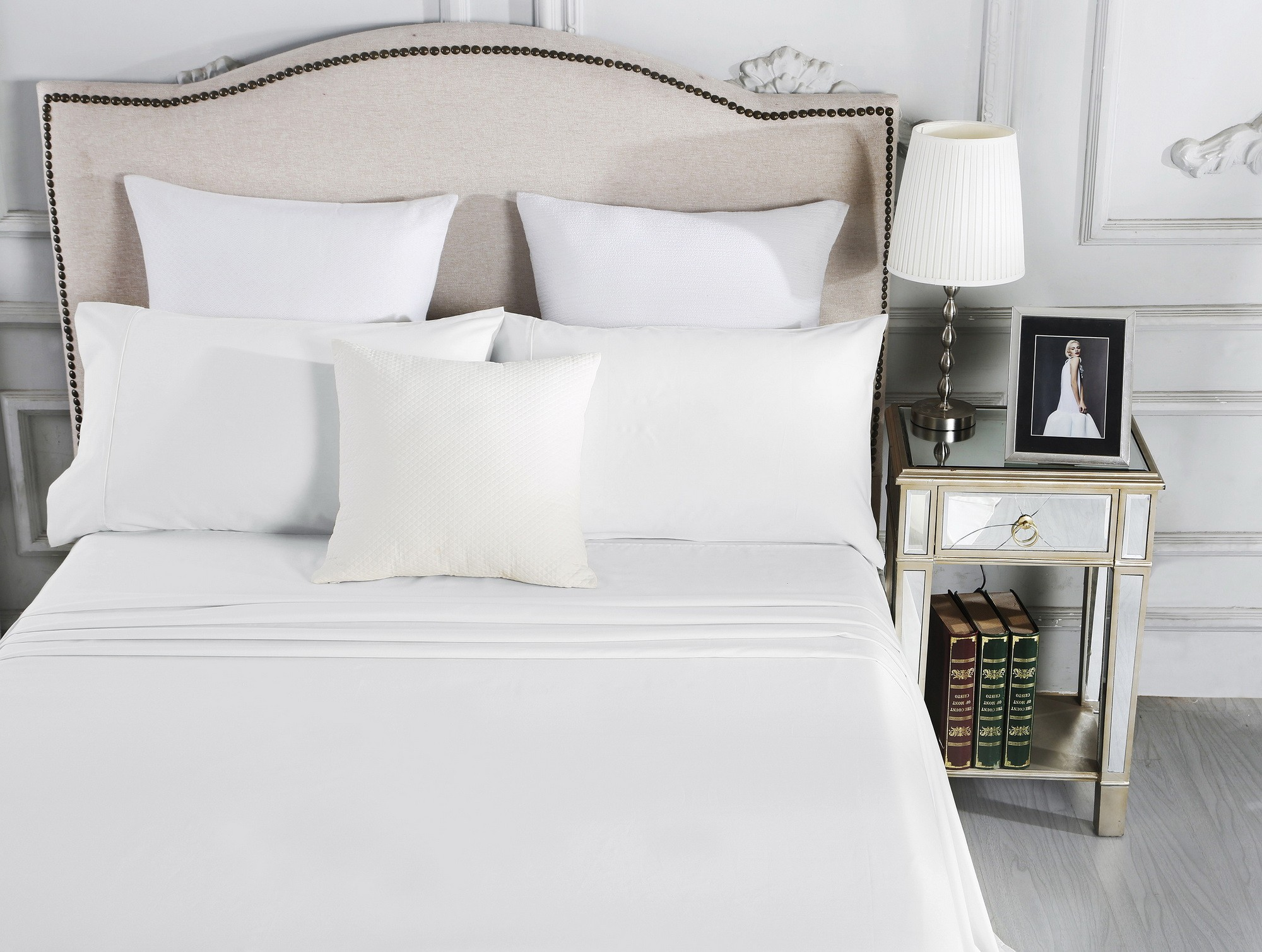 Luxury 1800TC Cotton Rich King Sheet Sets White
