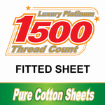 1500TC Cotton Fitted Sheets