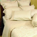SilkCotton Quilt Cover Set - Swirl Rose