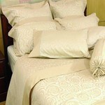 Silk Cotton Sheet Sets - Swirl Rose