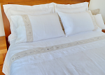 Pure Linen Sheets Queen Size Embroidery