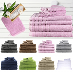Egyptian Cotton 7 Pieces Bath Towels Combo Set