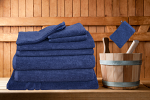 Egyptian Cotton 8 Pieces Bath Towels Combo Set Classic Ribbon