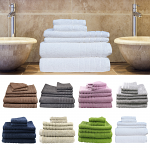 Egyptian Cotton 6 Pieces Bath Towels Combo Set