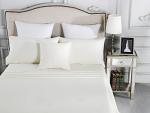 Luxury 1800TC Cotton Rich Double Sheet Sets Ivory
