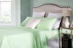 Cotton Rich Single Sheet Sets 250TC Percale Soft Mint
