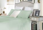 Luxury 1500TC Cotton Single Sheet Sets Cloud Color